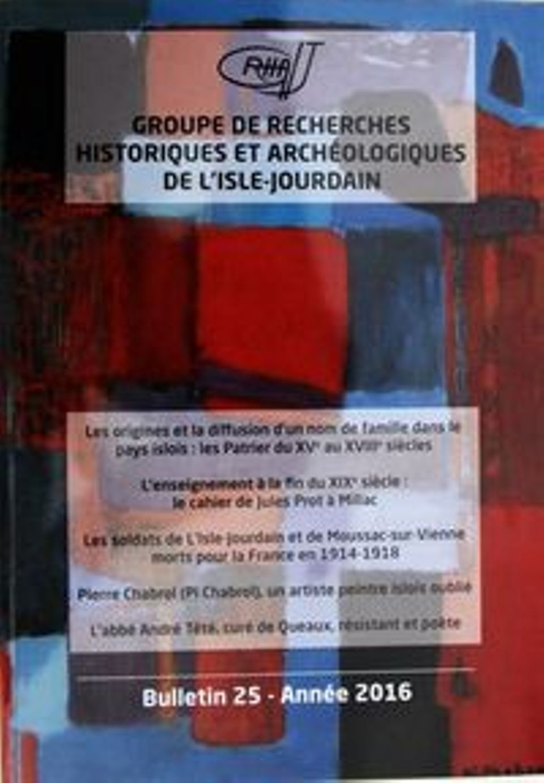 Bulletin du GRHAIJ, Bulletin n°25 - 2016,
